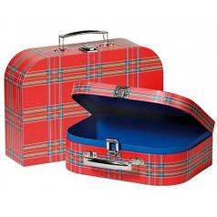 Набор игровых чемоданов Красные в полоску, Goki 60103G