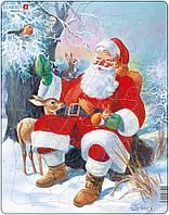Пазл рамка-вкладыш Дед Мороз в лесу Lasren серия Макси (JUL7)