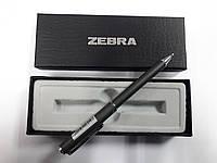 Ручка-телескоп шариковая складная ZEBRA Slide F1 mini в подар.упаковке,металл.корпус (черная)