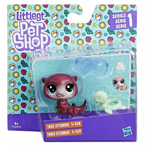 d5ddd3512938 Набор 2 фигурки-зверюшки Trixie Otterbook и Timber Otterbook, Littlest Pet  Shop, Hasbro