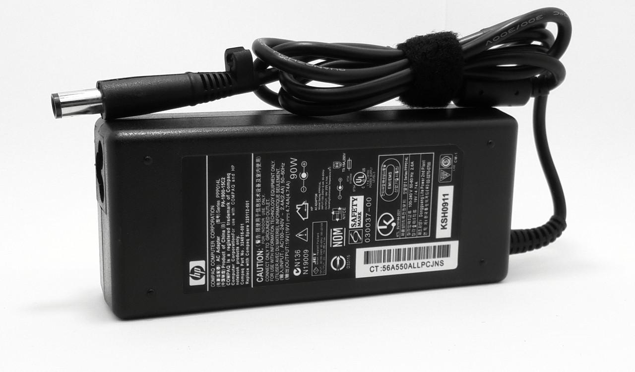 Блок питания для ноутбука HP G62-b73SR 19V 4.74A 7.4*5.0 90W(High Quality)