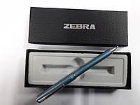 Ручка-телескоп шариковая складная ZEBRA Slide F1 mini в подар.упаковке,металл.корпус (голубая)