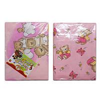 """Постельный комплект в детскую кроватку, розовый ,3 предмета """"Голд"""""""