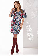 Модное платье Генриетта абстракция круги (44-52)