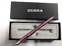 Ручка-телескоп шариковая складная ZEBRA Slide F1 mini в подар.упаковке,металл.корпус (розовая)