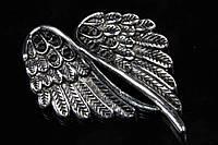 (Цена за 10шт) Крылья металлические Fenestraria, материал металл, цвет серебро, фигурки для рукоделия, Товары для творчества, Рукоделие, фигурки