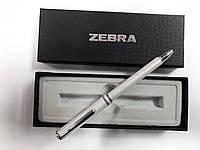 Ручка-телескоп шариковая складная ZEBRA Slide F1 mini в подар.упаковке,металл.корпус (белая)