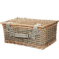 Корзинка для пикника из лозы+набор принадлежностей и посуды на 6 персон
