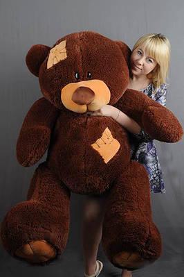 """Плюшевый мишка """"Тедди"""", шоколадный, 160 см."""