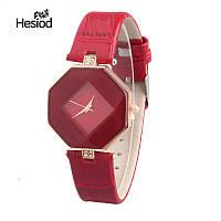 Женские часы Геометрия красные