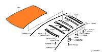 Феленка крыши (криша металл) Nissan Leaf ZE0 / AZE0 (10-17) G3112-3NAMA