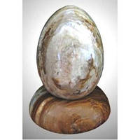 Яйцо пасхальное на подставке, камень оникс, Н5х7 см, Пасхальные подарки и украшения, Днепропетровск