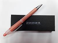 Ручка шариковая ZEBRA ESPINA-pearl прорезиненный корпус (розовая)