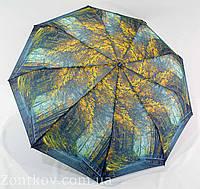 """Зонтик женский полуавтомат """"природа"""" от фирмы """"Calm Rain"""""""