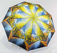 """Зонтик женский полуавтомат """"природа"""" от фирмы """"Calm Rain"""", фото 1"""