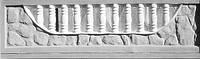 Бетонный еврозабор (СМОТРИТЕ ВИДЕО НАШИХ РАБОТ В YouTube) «Камень с бортиком» середина, фото 1