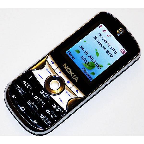 """Мобильный телефон Nokia Calsen 7388 Копия 2.4"""" 2SIM, металлический корпус"""