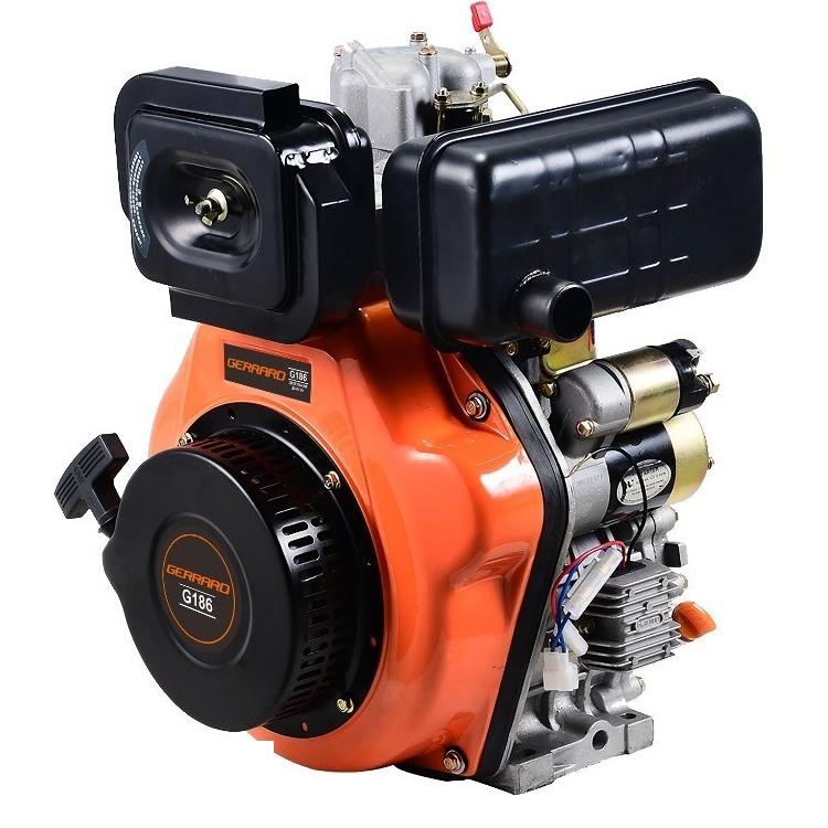 Двигун дизельний Gerrard G186 (10 л. с., шпонка, вал 25мм)