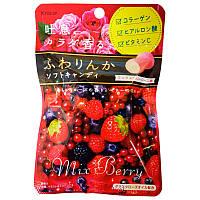 Жевательная конфета «Аромтная роза+ ягодный коктейль» Kracie, Япония, 32 г