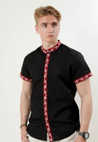 """Рубашка - вышиванка """" Полковник """"(воротник стойка), фото 2"""