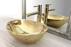 Золотой умывальник Rea Sofia Gold 40,5 см