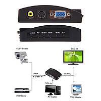 Конвертер BNC S-Video в VGA, камеру видеонабл., регистратор и др. к VGA монитору