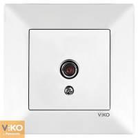 Розетка ТВ проходная 12 DB Белый Meridian Viko, 90970060-WH
