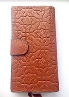 Классический женский кожаный кошелёк портмоне коричневого цвета