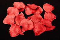 Искусственные лепестки роз для творчества, красного цвета, длина 4.5см,  ширина 4.5см, Декоративные лепестки роз, Цветные лепестки