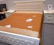 Кровать двуспальная деревянная с мягким изголовьем Freedom (Фридом) Микс мебель