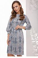 Яркое платье Дебора абстракция полосы (44-50)