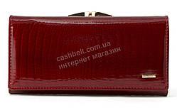 Стильный шикарный женский кожаный лаковый кошелек высокого качества  SALFEITE art. 2029-YF3-44 красный