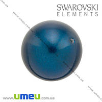 Бусина Swarovski 5810 Petrol, 10 мм, Перламутровая, 1 шт. (BUS-009888)