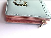 Женский голубой и розовый кошелек, портмоне