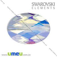 Бусина Swarovski 5050 Crystal AB, 14х10х5 мм, Граненная овальная, 1 шт. (BUS-005373)