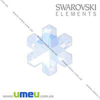 Подвеска Swarovski 6704 Crystal AB, 20х17 мм, Снежинка, 1 шт. (POD-005626)