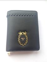 Женский черный кожаный кошелек, портмоне