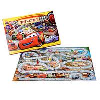 Детская настольная развлекательно-обучающая игра — Тачки - Пит-Стоп МГ-027-1311 Max Group,игра от 2 человек