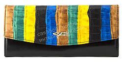 Стильный шикарный женский кожаный кошелек высокого качества  SALFEITE art. 2447T-D64-F02 черный