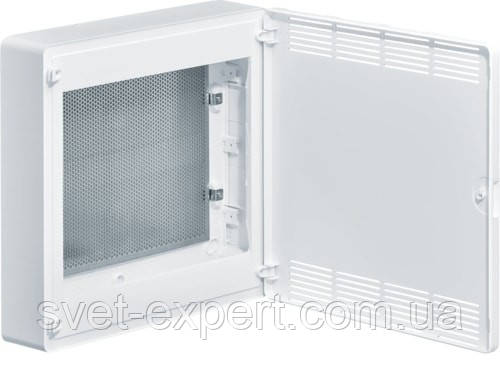 Щит 2-рядний для ММ-обладнання з/у білі пластикові перфоровані двері GOLF