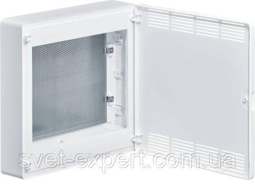 Щит 2-рядний для ММ-обладнання з/у білі пластикові перфоровані двері GOLF, фото 2