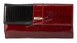 Стильный шикарный женский кошелек высокого качества SALFEITE art. 2618L-44-67 красный/черный