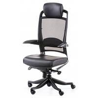 Кресло Special4You FULKRUM BLACK LEATHER, BLACK MESH (E0642)