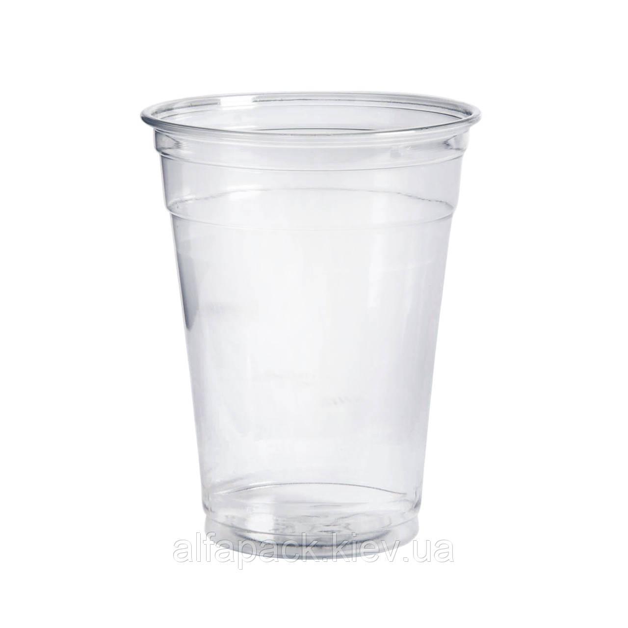 Стакан пластиковый прозрачный 400 мл