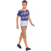 Кукла Кевин Спортсмен в белой футболке и бежевых шортах, Steffi & Evi Love