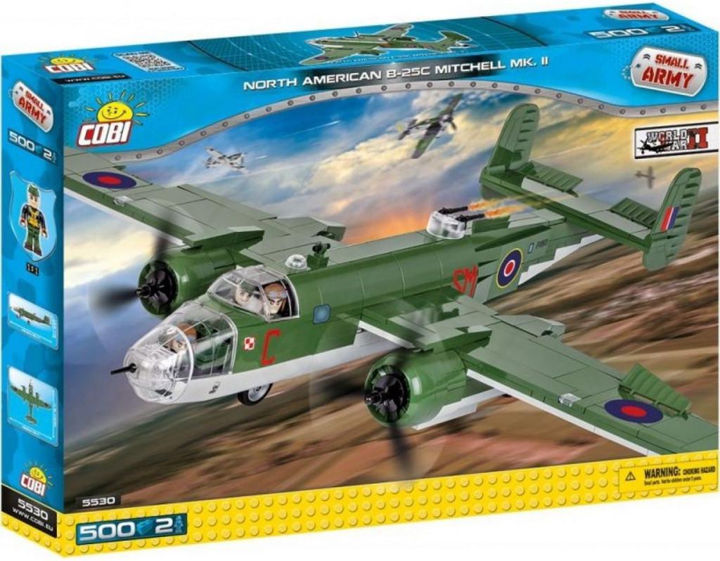 Конструктор Самолет B-25C MKII Митчелл COBI Вторая Мировая Война (COBI-5530)