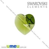 Подвеска Swarovski 6202 Olivine, 10 мм, Сердце, 1 шт. (POD-003254)