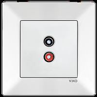 Аудиорозетка Белый Meridian Viko, 90970037-WH