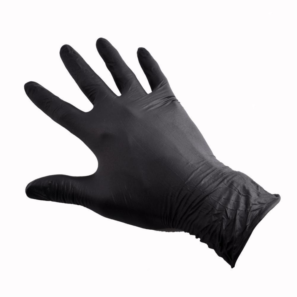 Перчатки одноразовые, 100 шт.  Нитриловые/черные.