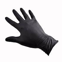 Перчатки одноразовые, 100 шт.  Нитриловые/черные. Доставка по всей Украине